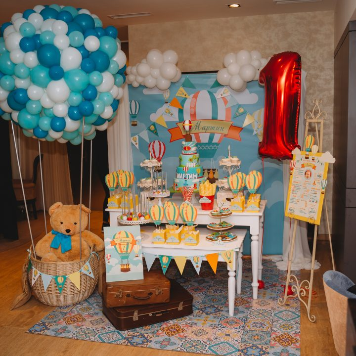 Hot Air Balloon Theme Birthday Party